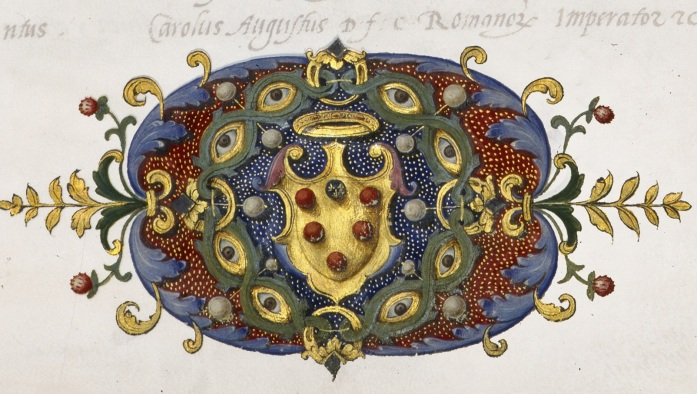 Detail of the fronpiece of the minutes produced by the Senato dei Quarantotto. Archivio di Stato di Firenze, Trattati internazionali I/C, fol. 1