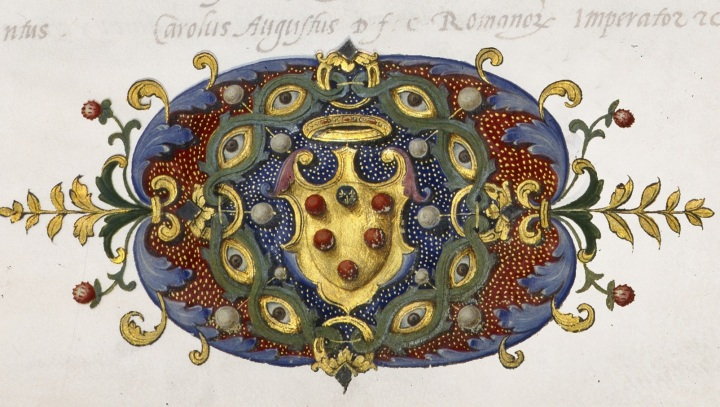 Detail of the fronpiece of the minutes produced by the Senato dei Quarantotto. Archivio di Stato di Firenze, Trattati internazionali I/C, fol. 1