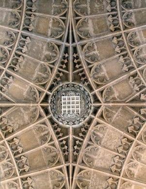 Portcullis boss, vault of King's College Chapel, Cambridge (Photo: Mike Dixon)