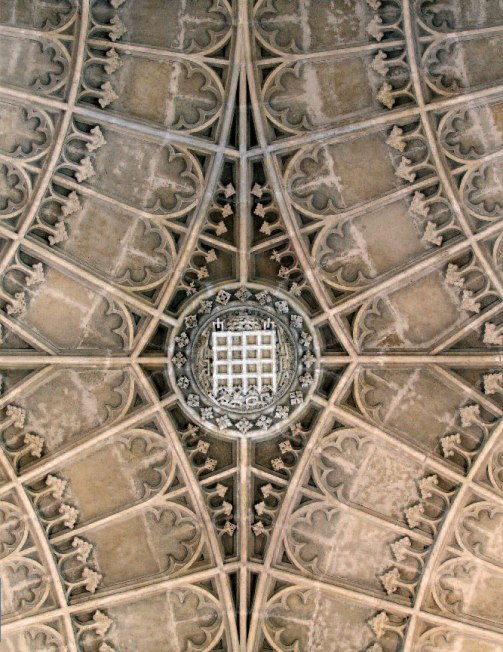 Portcullis boss, vault of King's College Chapel, Cambridge (Photo: Mike Dixon)