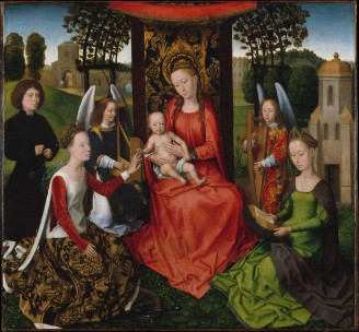 Virgin and Child with Saints Catherine of Alexandria and Barbara, Hans Memling, The Metropolitan Museum, New York